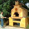 Wood fired baking oven.