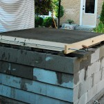 Cascade from cement blocks