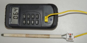 Digital Hand held Thermometer TC305K and K type thermocouple probe