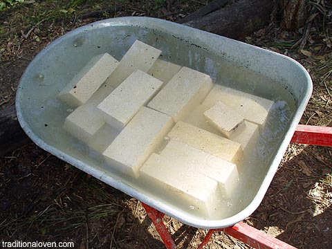 Firebricks dipped in water before cutting with diamond wheel. - Firebricks €� Heavy Dense Fire Clay Bricks