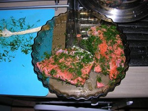 Salmon cooking and recipe