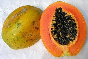 Papaya fruits, pawpaw fruits.