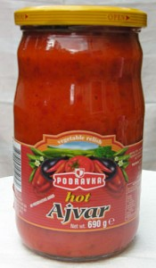Vegetable relish spread product by Podravka.