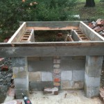 Base concrete slab with walls for the top slab.