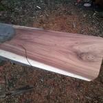 Blackwood slab for making pizza and bread peel.