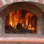 The first drying fire in our pizza oven.