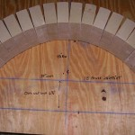 MTo firebrick arch wooden template making.