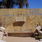 Making MTo oven firebrick vault arch.