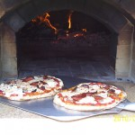 Pizzas done by Greg in his MTo design wood fired oven.