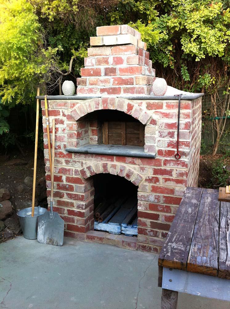 Saving money, Saving time, in building brick ovens.