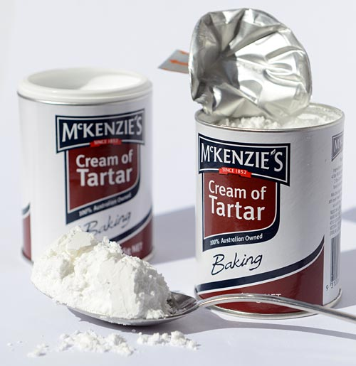 Opened containers with Cream of Tartar.
