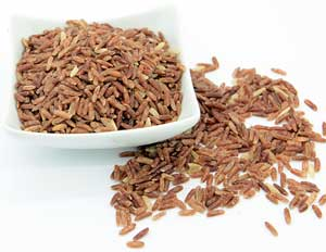 Coral red rice uncooked