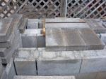 Angle iron and slab.