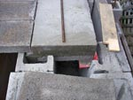 Angle iron side view.