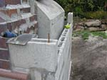 Finishing concrete block walls.