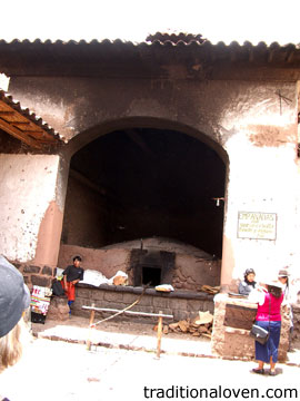 Bread communal bakery oven in Peru.