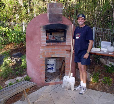 Photo of wood oven located in Queensland's backyard.