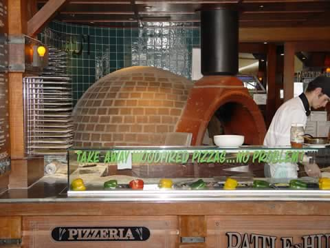 Restaurant with wood oven on the esplanade in Cairns, Queensland Australia.