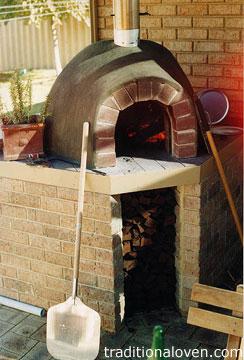 Picture of oven installed under veranda roof, Western Australia.