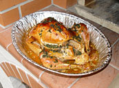 Roasted turkey in Masterly Tail oven design.