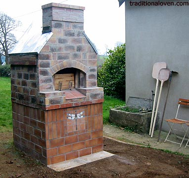 Picture of wood brick oven in France.