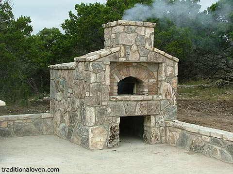 Stone oven built in West Texas by Fred.