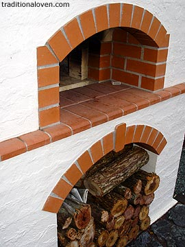 Masterly Wood Fired Oven Firebrick Dome picture. Oven designed, developed and built by Rado Hand in July 2004.