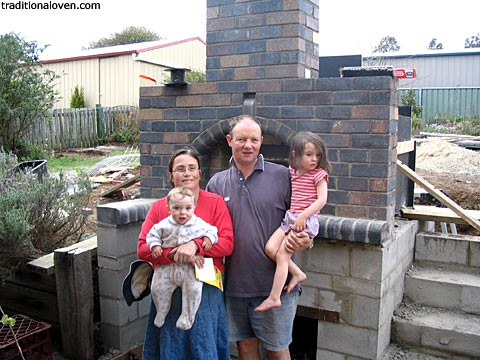 Photo of artisan designed family oven in Glen Innes, NSW, Australia.
