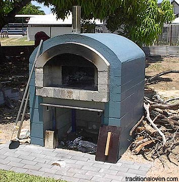 Picture of barrel style oven in Ayr in Qld., Australia.