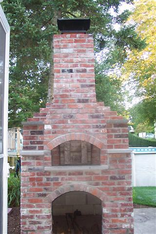 Set Back Brick For Incorporated 9x13 Flue Steel Chimney Cap