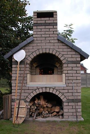 Garden oven in Destelbergen Belgium.