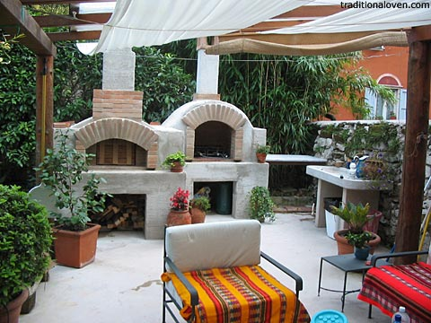 Italian Forno Wood Fired Pizza Brick Oven And Fireplace