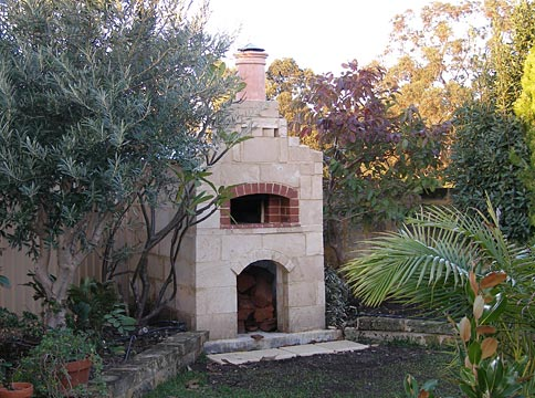 Pizza oven in Carabooda Limestone