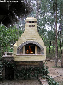 Outdoors cooking fires in the out of doors garden.