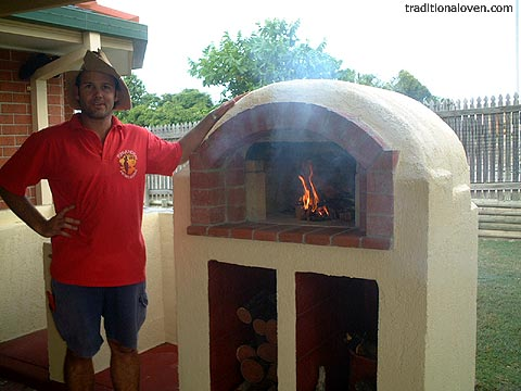 Smaller sized constructed brick dome oven project.