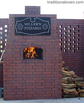 Built Miller's Pizzaria oven outdoors.