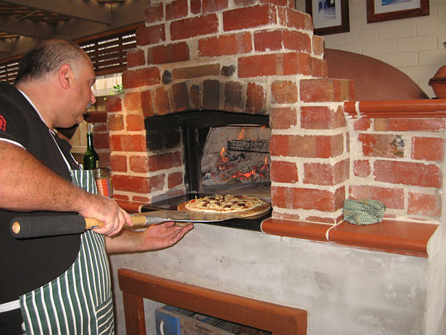 Wood fired pizza oven Amore Mio built by Sam in Victoria, Australia.