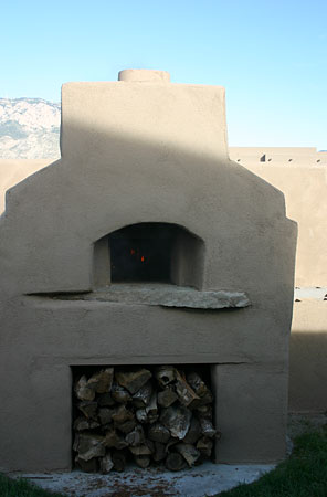 Oven built with American Southwestern design feel to it.
