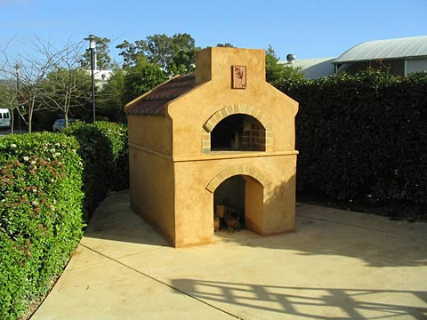 Brick pizza oven built by Giles with TAFE Landscaping Students, Adelaide, South Australia.