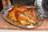 Christmas turkey weight versus roasting time calculator.