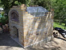 Building wood oven in own backyard garden.