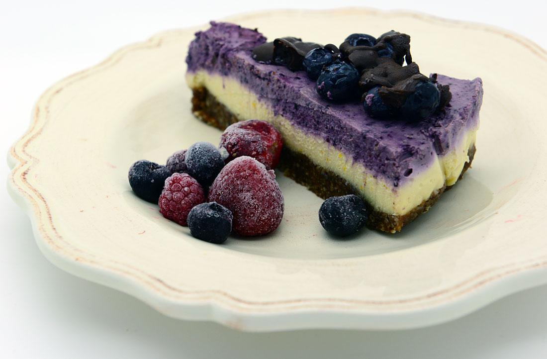 Raw Lemon Lime Blueberry Cheesecake Vegan