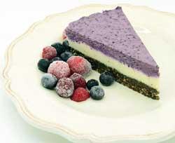 Raw lemon lime blueberry cheesecake - vegan.