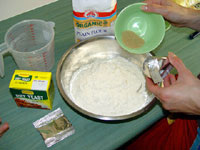 Mix dry dough ingredients together.