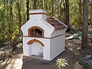 Wood burning pizza oven brick work pictures and plans.