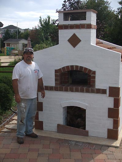 Pizza oven built by Anthony Martini.