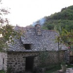 French stone building with wood fired oven in.