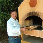 Pizza oven in outside of  Bangkok city are.