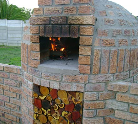 Round igloo dome pizza oven.