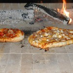 Small and medium pizzas.